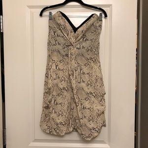 Reiss 1971 Snakeskin Bodice dress